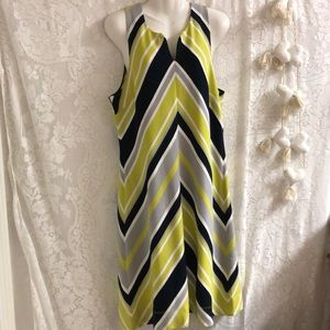 Banana Republic for Milly dress sz 14 lime,black
